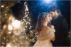 winter wedding nearlyweds
