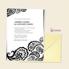 paisley border wedding invitation wedding invitation templates