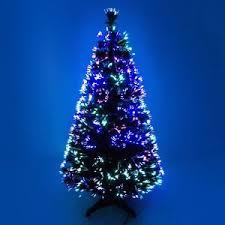 fibre optic colour changing green christmas tree xmas 2ft 3ft