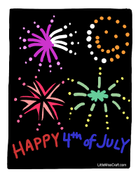 crafts july 4th fireworks coloring page