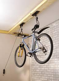 mottez bike bicycle lift pulley system storage rack holder lift