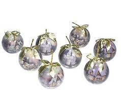 set of 8 2002 ornaments by kinkade