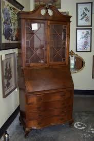 Drop Lid Secretary Desk by Antique Drop Front Secretary Desk With Hutch Antique Furniture