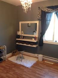 decor penteadeiras improvisadas white makeup vanity white