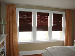 home decor white window curtains on black hooks added by dark brown