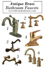 Antique Brass Bathroom Faucet by Affordable And Pretty Bathroom Faucets Life On Shady Lane