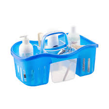 acrylic shower caddy mobroi com casabella blue 2 in 1 shower caddy the container store