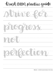 how to do brush lettering the easy way free printable practice