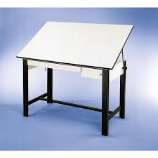 Alvin Elite Drafting Table Alvin 37 5 X 72 Design Master 4 Post Drafting Table Tool And