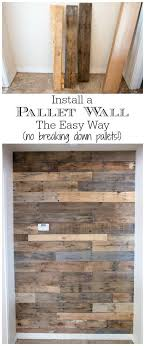 kitchen cabinets made out of pallet wood how to install a pallet wall the easy way addicted 2 diy