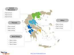 Greece World Map by Free Greece Editable Map Free Powerpoint Templates