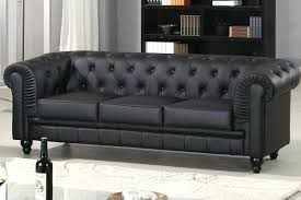 canap chesterfield 3 places canape canape capitonne cuir canapac chesterfield 3 places pu noir