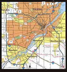 toledo ohio map map of toledo ohio vacations travel map