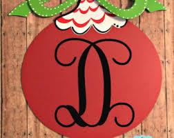 door hanger monogrammed ornament door