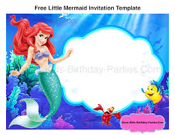 free mermaid invitation template mermaid party
