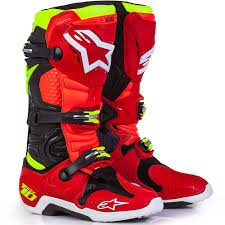 motocross bike boots alpinestars new mx 2017 a2 le tech 10 torch red yellow motocross