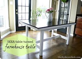 Stornas Bar Table Ikea Table Turned Farmhouse Table From Thrifty Decor Chick
