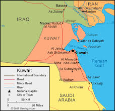kuwait on a map kuwait map and satellite image