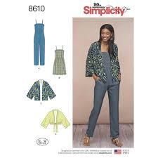 jumpsuit stitching pattern pattern 8610 misses kimono jumpsuit and dress