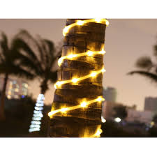 amazon com le solar power 16 5ft 50 led string lights warm