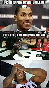 D Rose Memes - i used to play basketball like you then i took an arrow in the