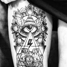 cool triangle eye tattoomagz