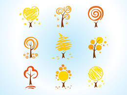 cool tree icons vector graphics freevector com