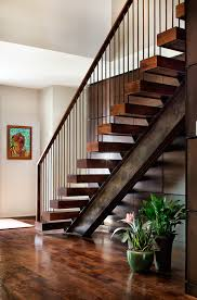 painting stair rails with original prints and posters staircase contemporary and mesquite wood panels