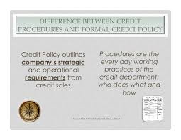 Formal Credit Policy Trade Connect Finance All Slides