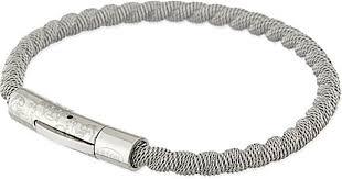 braided steel bracelet images Eton of sweden braided steel bracelet in metallic lyst jpeg