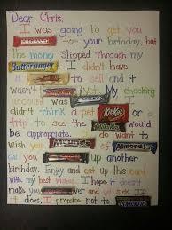 candy bar poster birthday card birthday pinterest candy bar