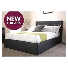 Ottoman Bed Black Cheap Naples Gas Lift Storage Ottoman Bed In Black Or White On Sale