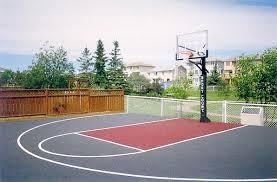 Backyard Basketball Half Court Sport Court Calgary Alberta Home Courts Backyard Game Courts