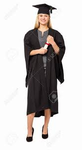 college graduation gown length portrait of college student in graduation gown holding