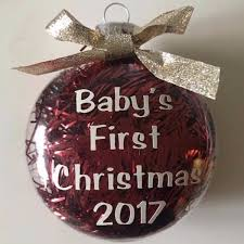 personalized baby u0027s first christmas ornament decor sassy steals