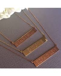 Gold Name Plate Necklace Great Deal On Zoe Lev Jewelry 14k Gold Nameplate Necklace