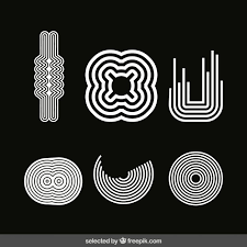 white modern ornaments collection vector free