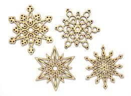 set of 12 unpainted laser cut snowflakes diy