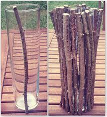 Vase With Twigs Rustic Vase I Literally Diy