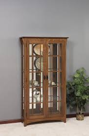 Mission Style Curio Cabinet Plans Curio Cabinet Double Door Tall Lighted Curioets Mahoganyetdouble