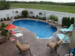 Backyard Pool Ideas Pictures Small Kidney Shaped Inground Pool Designs For Small Backyard With