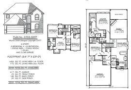 floor plans 2 story homes 2 story bedroom 2 story 4 bedroom house floor plan striking in small