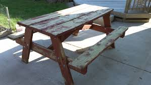 How To Make A Picnic Table Bench Cover by Rehab An Old Picnic Table Youtube