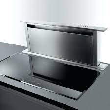 hotte aspirante verticale cuisine hotte cuisine escamotable hotte ascenseur intacgrace dans le plan de