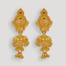 gold jhumka earrings design jhumka earrings designs beautify themselves with earrings