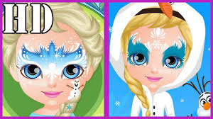 baby barbie frozen face painting baby barbie games fun games