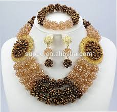 african beads necklace sets images Latest design african beads jewelry set nigerian coral beads jpg