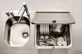Compact SmallSpace Dishwasher Fits Into Kitchen Sink Slot - Small sink kitchen