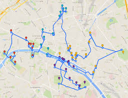 Nyc Marathon Route Map The Optimal Route To Visit The Main Touristic Sites Of Paris