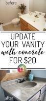 Resurface Vanity Top Diy Vanity Makeover Using Concrete Overlay